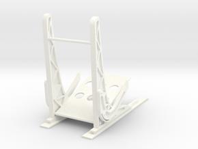 1.5 EC120 / ECUREUIL SEAT (D) in White Processed Versatile Plastic