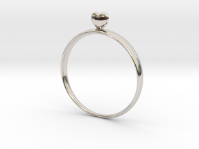 Loving You (size 60) in Rhodium Plated Brass