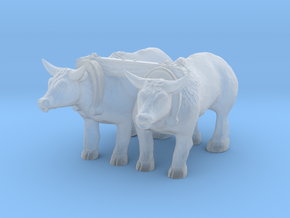 TT Scale Oxen in Smooth Fine Detail Plastic