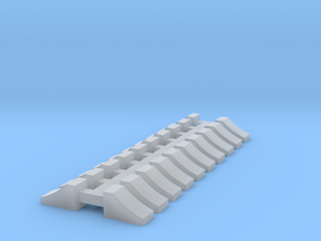 Wheel Chock - 10 sets 1-50 Scale in Smooth Fine Detail Plastic