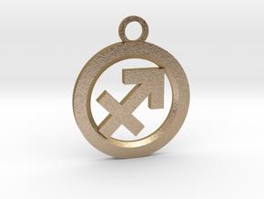 Sagittarius in Polished Gold Steel