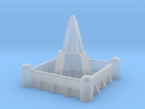 2mm / 3mm Scale Walled Temple in Smooth Fine Detail Plastic
