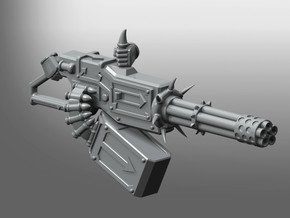 Corrupted Prime Gatling Cannon in Smooth Fine Detail Plastic
