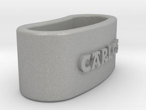 CARLOS Napkin Ring with lauburu in Aluminum