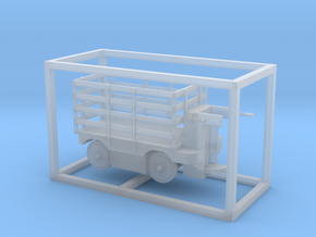E-Karren Holzgitteraufbau - 1:120 TT in Smooth Fine Detail Plastic