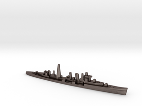 HMS Colombo (masts) 1:2400 WW2 naval cruiser in Polished Bronzed-Silver Steel