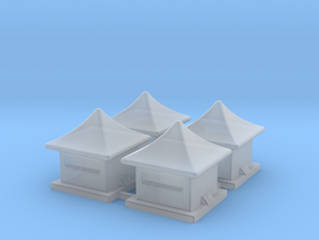 2mm / 3mm Scale China Style House in Smooth Fine Detail Plastic