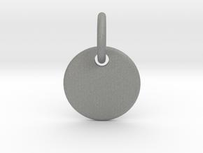 Initial Pendant in Gray PA12