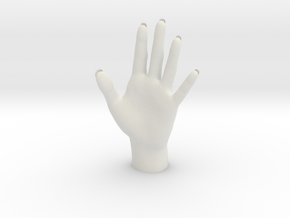 Hand Shaped Key Item Object Holder Home Decoration in White Natural Versatile Plastic