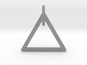 "Keychain ""Triangle"" in Gray PA12"