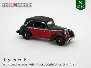 DKW F7 Front Luxus Cabriolet (N 1:160) in Smooth Fine Detail Plastic