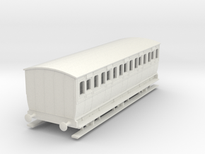 0-87-mgwr-6w-3rd-class-coach in White Natural Versatile Plastic