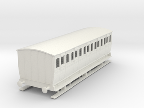 0-55-mgwr-6w-3rd-class-coach in White Natural Versatile Plastic