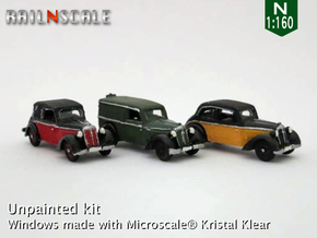 SET 3x DKW F7 (N 1:160) in Smooth Fine Detail Plastic
