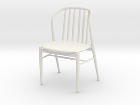 Printle Thing Chair 012 - 1/24 in White Natural Versatile Plastic