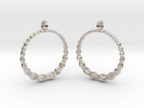 Groovy Earrings in Rhodium Plated Brass