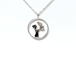 Mother & Daughter Pendant 1 -Motherhood Collection in Polished Silver