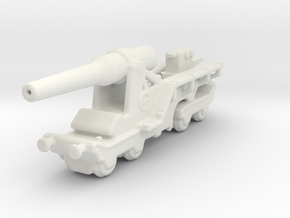 canon de 240 sur affut truc mle 1/285 6mm   in White Natural Versatile Plastic