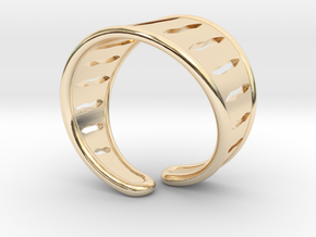 "Ring ""Carvings"" in 14K Yellow Gold"
