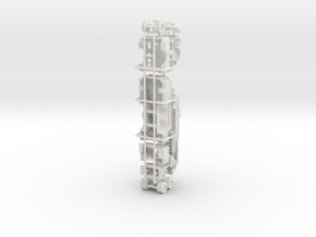 1/64 Pierce Ascendant Mid Mount in White Natural Versatile Plastic