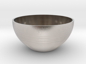 Bowl Pixels in Rhodium Plated Brass