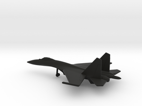 Sukhoi Su-35 Flanker-E in Black Natural Versatile Plastic: 6mm