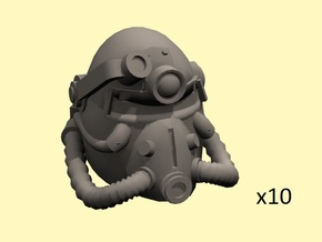 28mm Wastefall PA helmet for SM conversion in Smoothest Fine Detail Plastic