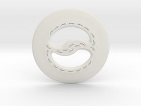 Miniature Chakram in White Natural Versatile Plastic