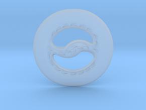 Miniature Chakram in Smooth Fine Detail Plastic