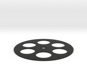 Super Wheel Face 6Hole in Black Natural Versatile Plastic