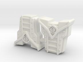 Crimson Guard Pack - Mega-Construx in White Natural Versatile Plastic: Extra Small