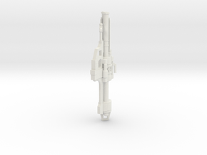 1:6 Miniature Halo Rocket Launcher in White Natural Versatile Plastic