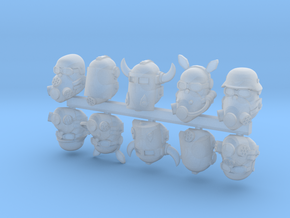 28mm space orc biker heads in Smoothest Fine Detail Plastic