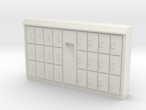 HO Scale Baggage Lockers #1 in White Natural Versatile Plastic