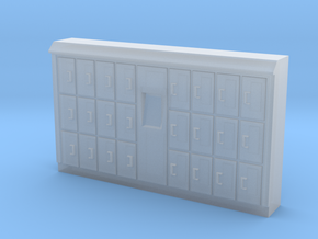HO Scale Baggage Lockers #1 in Smooth Fine Detail Plastic