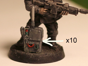 28mm radio transmitter backpack in Smoothest Fine Detail Plastic