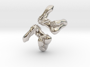 Shoulders and Arms Cufflinks in Platinum