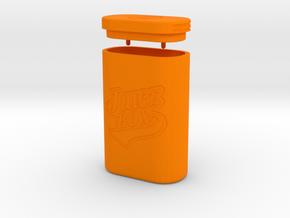 JUICE BOX in Orange Processed Versatile Plastic