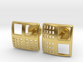 Kna-4 Cufflinks in Polished Brass
