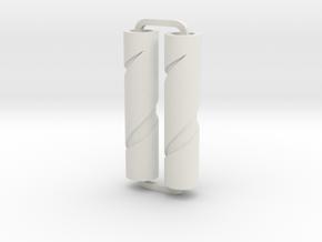 Slimline Pro spiral 08 lathe in White Natural Versatile Plastic