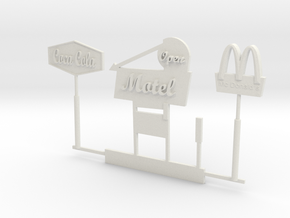 S Scale Signs in White Natural Versatile Plastic