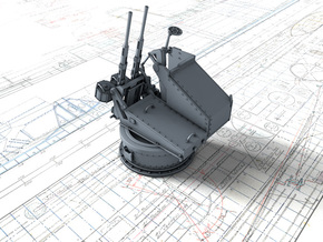 1/72 Twin 20mm Oerlikon MKV Mount Not in Use in Smooth Fine Detail Plastic