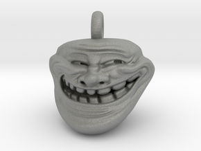 Trollface Meme Pendant necklace all materials in Gray PA12