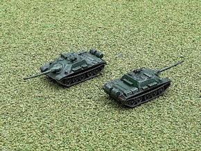 Russian SU-122 54 Tank Destroyer 1/200 in Smooth Fine Detail Plastic