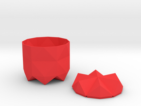 Pot and Lid in Red Processed Versatile Plastic