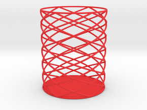 Spiral Hex Pencil Holder in Red Processed Versatile Plastic