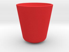 Pixel Mug in Red Processed Versatile Plastic