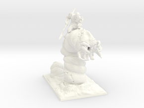 Dune Worm Rider in White Processed Versatile Plastic