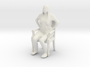 Printle C Femme 424 - 1/18 - wob in White Natural Versatile Plastic
