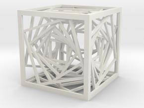 Tesseract Spiral in White Natural Versatile Plastic